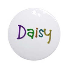 Daisy Play Clay Round Ornament