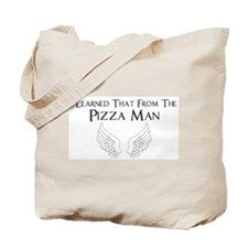 Castiel Pizza Man Tote Bag