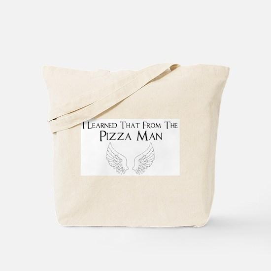 Castiel Pizza Man Tote Bag