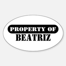 Property of Beatriz Oval Decal