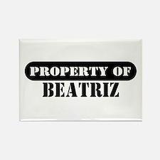 Property of Beatriz Rectangle Magnet