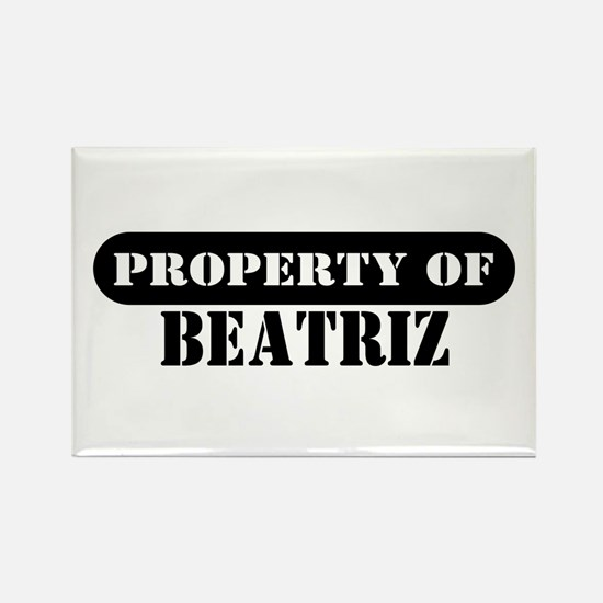 Property of Beatriz Rectangle Magnet