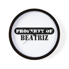 Property of Beatriz Wall Clock