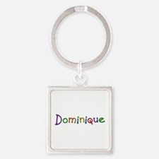 Dominique Play Clay Square Keychain
