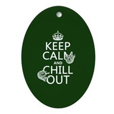 Keep Calm and Chill Out (Sloths) Ornament (Oval)