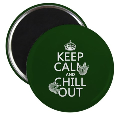 Keep Calm and Chill Out (Sloths) Magnet