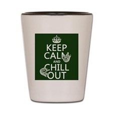 Keep Calm and Chill Out (Sloths) Shot Glass
