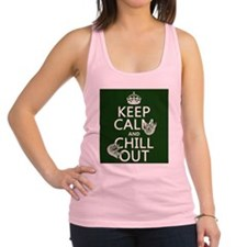 Keep Calm and Chill Out (Sloths) Racerback Tank To