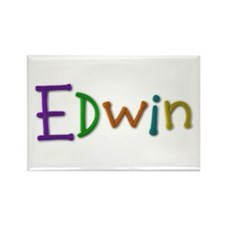 Edwin Play Clay Rectangle Magnet
