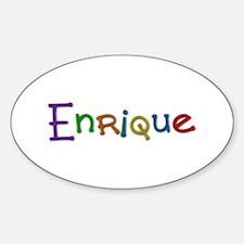 Enrique Play Clay Oval Bumper Stickers