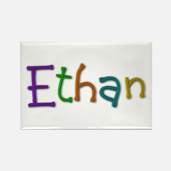 Ethan Play Clay Rectangle Magnet
