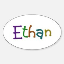 Ethan Play Clay Oval Decal
