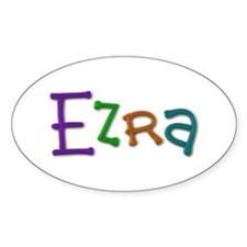 Ezra Play Clay Oval Decal