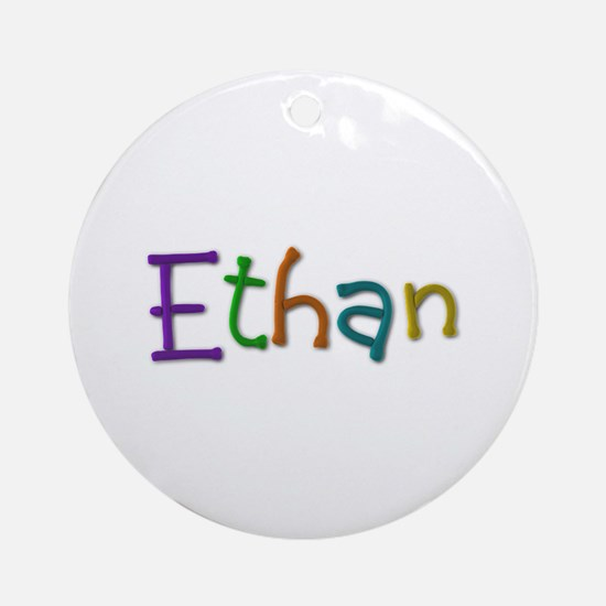 Ethan Play Clay Round Ornament