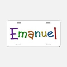 Emanuel Play Clay Aluminum License Plate