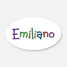 Emiliano Play Clay Oval Car Magnet