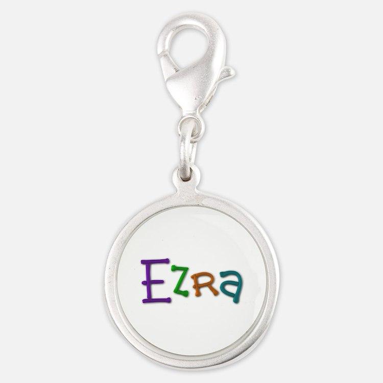 Ezra Play Clay Silver Round Charm