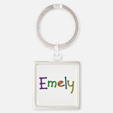 Emely Play Clay Square Keychain