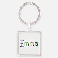 Emma Play Clay Square Keychain