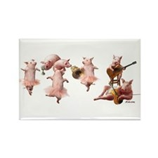 Pig Opera Rectangle Magnet