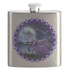 Contemplative Elephants Flask