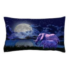 Contemplative Elephants Pillow Case