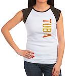 Tuba Stamp Women's Cap Sleeve T-Shirt