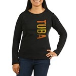 Tuba Stamp Women's Long Sleeve Dark T-Shirt