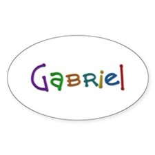 Gabriel Play Clay Oval Decal