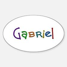 Gabriel Play Clay Oval Decal
