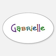 Gabrielle Play Clay Oval Decal