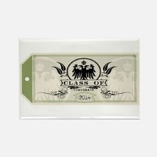 Green Class of 2014 Tag Rectangle Magnet (100 pack