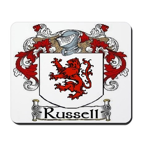 Russell Coat of Arms Mousepad