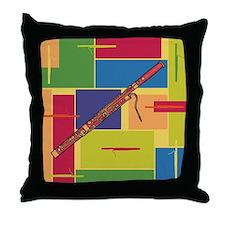 Bassoon Colorblocks Throw Pillow