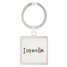 Isabelle Play Clay Square Keychain