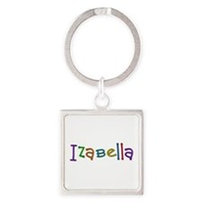 Izabella Play Clay Square Keychain