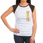 Trumpet Stamp Women's Cap Sleeve T-Shirt