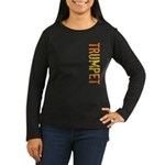 Trumpet Stamp Women's Long Sleeve Dark T-Shirt