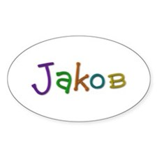 Jakob Play Clay Oval Decal