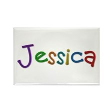 Jessica Play Clay Rectangle Magnet