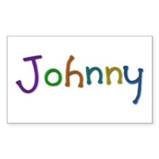 Johnny Play Clay Rectangle Decal
