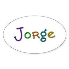 Jorge Play Clay Oval Decal