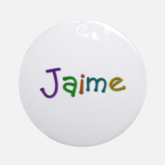 Jaime Play Clay Round Ornament