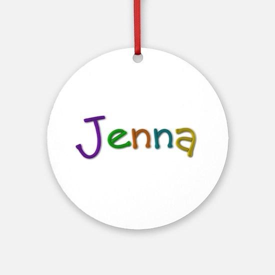 Jenna Play Clay Round Ornament