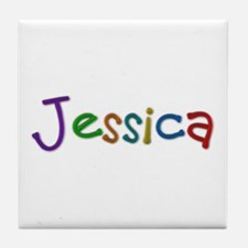 Jessica Play Clay Tile Coaster