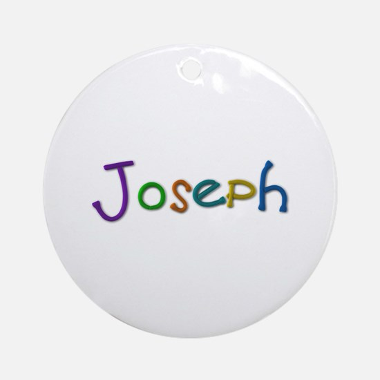 Joseph Play Clay Round Ornament