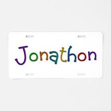 Jonathon Play Clay Aluminum License Plate