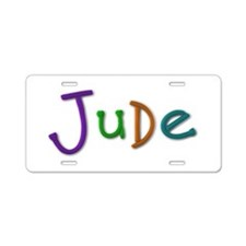 Jude Play Clay Aluminum License Plate