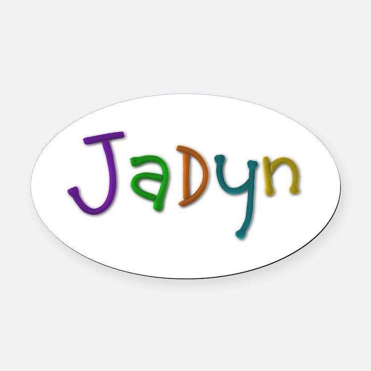 Jadyn Play Clay Oval Car Magnet