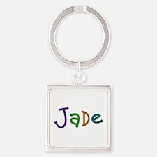 Jade Play Clay Square Keychain